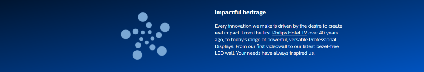 Philips Displays Vorteile Impactful Heritage