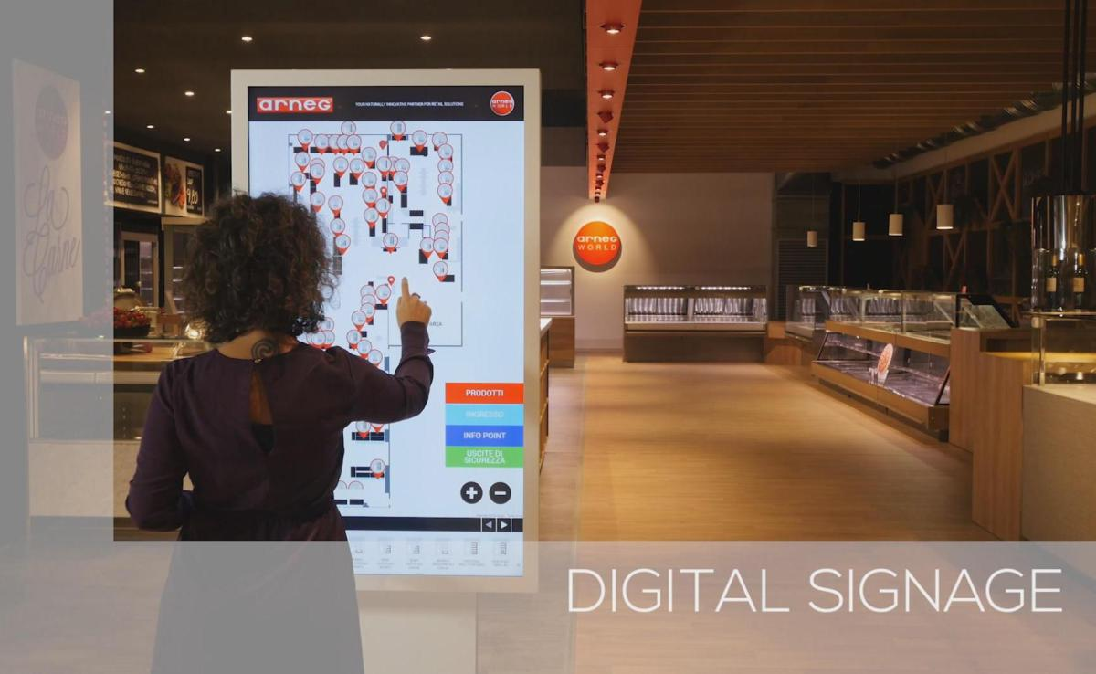 Digital Signage Wegweisung