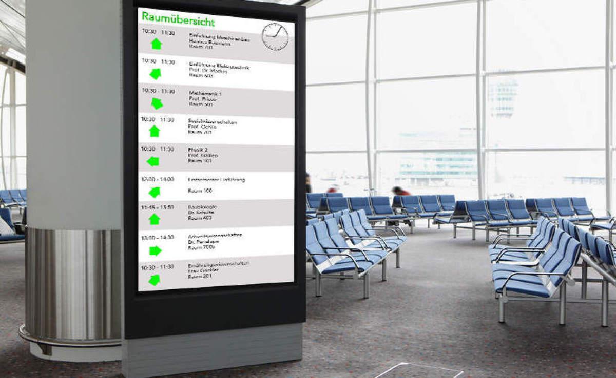 Digital Signage Wartebereich