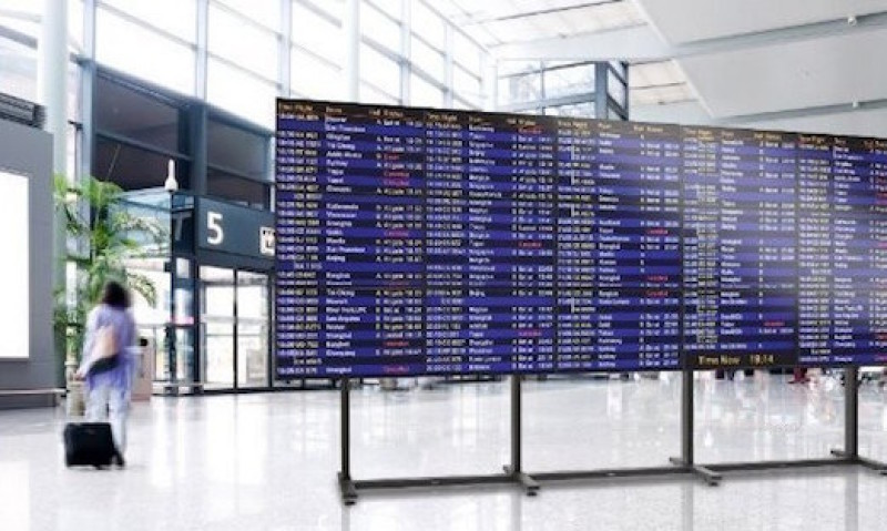 Videowall Philips 4x3 Airport