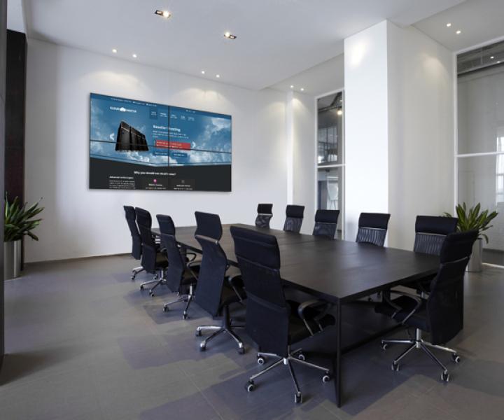 Videowall Besprechungsraum Kempten Unternehmen