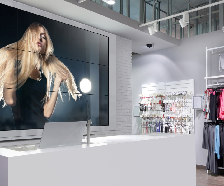 NEC Videowall Heidenheim Einzelhandel