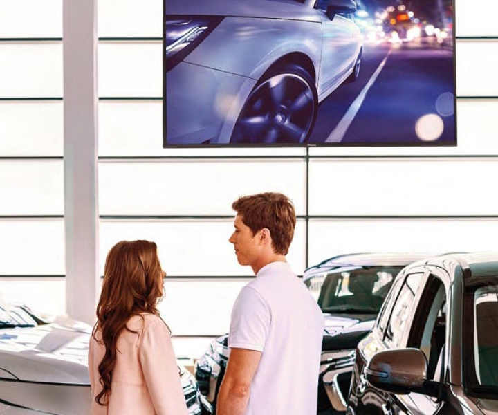 Philips D-Line Display Digital Signage Heidenheim