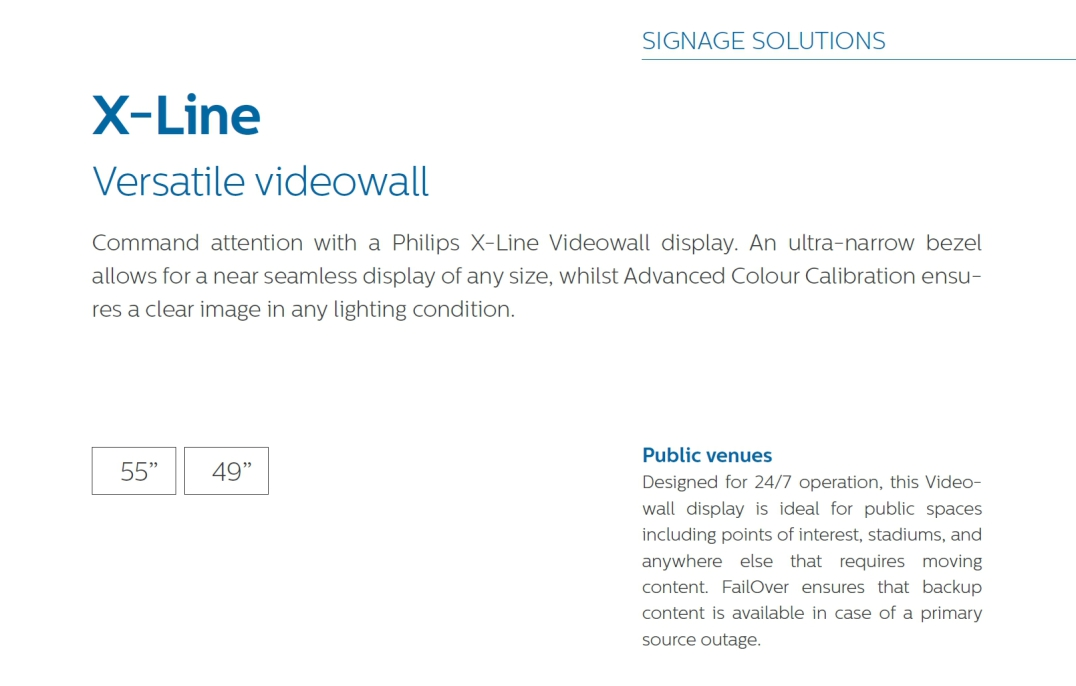 Philips X-Line Videowall - AV Networks